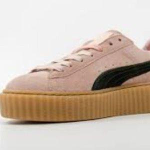 896127b00c0 Puma Shoes - Puma by Rihanna Fenty Creepers Pink Green